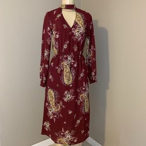 NWOT Long Sleeve Midi Dress